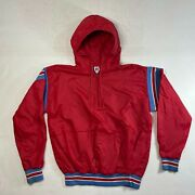 Vintage Russell Athletic Mens Large Red Waffle Knit Lined Jacket Made In Usa Nic