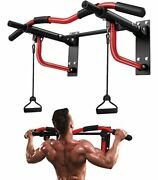 Pull Up Bar Wall Mounted, Heavy Duty Wall Mount Chin Up Bar With Red