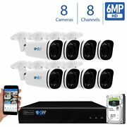 8 Channel Nvr 8 X 6mp Poe Ip Outdoor Varifocal Microphone Security Camera System