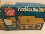 Vintage 1973 Romper Room Weeble Cottage Not Complete.4 Weebles Couch Playground
