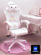 Girls Gaming Cute Comfortable Chair Computer Seat Pink Swivel Anchor Adjustable