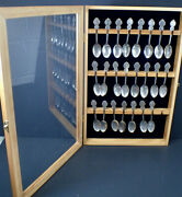Collectors Guild Heritage Collection Of American States Set 23 Spoons And Cabinet
