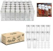 Bestonzon 12/24/36x Glass Spice Jars/bottles - 4oz Empty Square Spice Containers