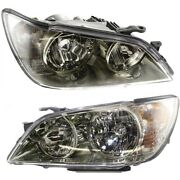 Headlight Set For 2001-2005 Lexus Is300 Left And Right Hid With Bulb 2pc