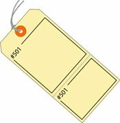 Aviditi Manilla Claim Tags Consecutively Numbered - Pre-strung 4 3/4 X 2 3/8...