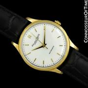 1960 Vintage Mens Full Size Cal. 853 18k Gold Watch - Mint With Warranty