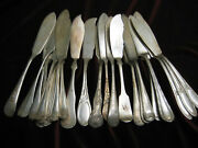 Vintage Silverplate Fish Knife Lot Of 24 Craft, Restaurant Or Table Flatware