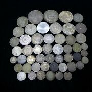 Lot Of 50 Different Vintage Foreign World Silver Coins Lot-4