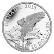 Bald Eagle Returning From The Hunt - 2013 Canada 20 Fine Silver Coin