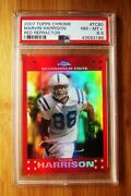 2007 Topps Chrome Red Refractor 80 Marvin Harrison Colts Psa 8.5