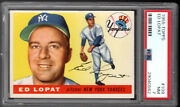 1955 Topps 109 Ed Lopat N.y. Yankees Clean/sharp/well Centered Graded Psa 7