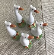 """Rare Herend Hvngary Collectable Vint Bird Goose Duck 3"""" Porcelain Figure Hungary"""