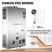 18l- Tankless Hot Water Heater Portable Propane Gas Lpg Stainless Steel Outdoor