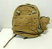 Tag Tactical Assault Gear Molle Backpack Coyote Brown W/ Nalgene Parka