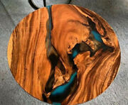 Round Epoxy Table Custom Furniture Dining/coffee Wood Acacia Deco Made To Order