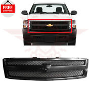For 2007-2013 Chevrolet Silverado 1500 Front Grill Grille Textured Black Plastic