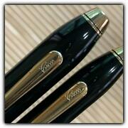 Cross Townsend Fountain Pen And Mechanical Pencil Set Black Lacquer Old Logo428/ak