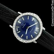 1974 Omega Geneve Vintage Ladies Ss Steel And Diamond Watch - Mint With Warranty