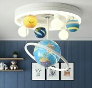 Bedroom Lighting Led Ceiling Lights Solar System Cartoon Round For Kids Adults