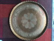 Antique Persian Hand Hammered Copper Tray 27andrdquo. Beautiful Great Condition