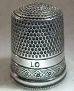 293 Diamonds With Flowers Sterling Silver Thimble - Simons Bros Co Size 10