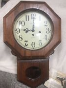 Linden Wall Clock - 31 Daywestminster Chimes 85 Recently Cleaned And Serviced