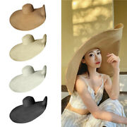 Floppy Extra Collapsible Wide Brim Sun Beach Straw Hat Vacation Travel
