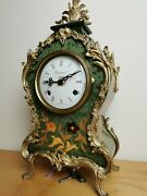 Rare Vinatge Imperial And Fhs Germany And Italy Mechanical Ornate Mantle Clock 37cm
