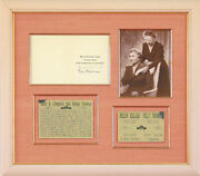 Helen Keller - Christmas / Holiday Card Signed Co-signed By Polly Thomson