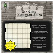10 Rpg Dry-erase Dungeon Tiles Set 9pcs By Roll 4 Initiative R4i45001 Dandd