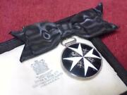 British Army 1940s St. Johnand039s Cross Medal For Women Silver+glass Enamel By Spink