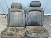 1969 Ford Mustang Factory Front Bucket Seats With Headrests Good Core Pair