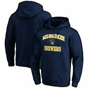 Milwaukee Brewers Fanatics Branded Heart And Soul Pullover Hoodie - Navy