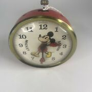 Rare Vtg Disney Mickey Mouse Animated Alarm Clock By Bradley For Parts Repair
