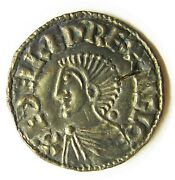 978 - 1013 A.d. Anglo Saxon King Aethelred Ii Silver Penny By Ælfric Of London