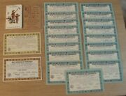 1933-34 Bsa Lot And039certificates Of Merit Badges/star And Life Scout Membership Card