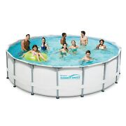 16ft Elite Frame Pool With Filter Pump, Cover, And Ladder Summer Outdoor Family