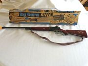 Vintage Marx Plastic And Metal Toy Roy Rogers Big Game Rifle Cap Gun With Box