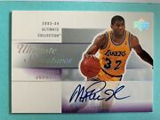 2003-04 Magic Johnson Ultimate Collection Signatures Auto On Card Autograph Read
