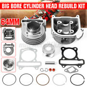 69mm 100cc Big Bore Cylinder Head Rebuild Set For 139qmb Engine Scooter 50cc Gy6