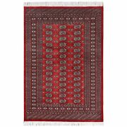 4and0391x5and03910 Red Hand Knotted 250 Kpsi Mori Super Bokara Silky Wool Rug R61367