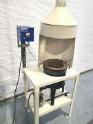 Hones 160 Lb. Metal Melting Furnace With Hood And Dig Controller Lead Zinc Pewter