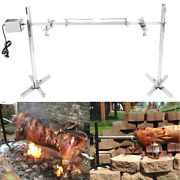 Large Bbq Grill And Fire Pit Rotisserie Spit Roaster Rod Pig Turkey 15w Motor Kit