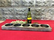 5 Hole Wooden Cheese Butter Mold, Wood Candle Holder, Rustic Decor A,