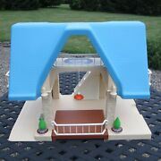 Vintage Little Tikes Blue Roof Dollhouse - Great Condition