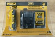 Dewalt Dcb203c Battery And Charger Dcb203 And Dcb112 2ah 20v 20 Volt Max Kit New