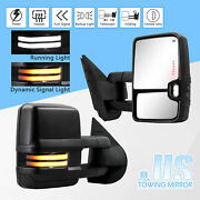Towing Mirrors For Sierra Silverado 07-14 Switchback Dynamic Singal Power Heated