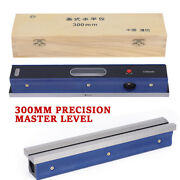 12 Master Precision Level For Machinist Tool 0.02mm/m Usa Carbon Steel 300mm