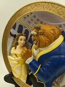 Walt Disney 3d Collectible Beauty And The Beast 3d Plate Tale As Old As Time