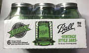 New Ball 2015 Green Colored Heritage Collection 1 Quart Canning Jars - 6pk